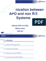 Communication Between APO and Non R3 Systems
