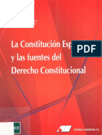 LaConstitucionEspañolaylasFuentes delDerechoConstitucional