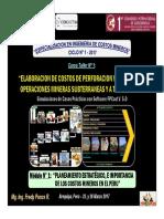 Módulo 1 - Planeamiento Estratégico Minería, Costos Mineros en Perú e Importancia (10-Mar-17