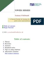 Power Series Tutorial