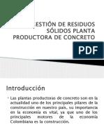 Gestion de residuos solidos en una planta de concreto presentacion
