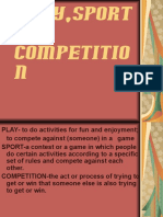 Play, Sport and Competition