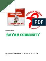 17 Agustus Jalan Bayam