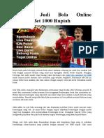 Taruhan Judi Bola Online Minimal Bet 1000 Rupiah1