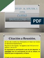 LLamado a Segunda Reunión BARCELONA 2019