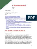 Obras Completas de São Bernardo de Claraval (OEUVRES COMPLÈTES DE SAINT BERNARD).doc