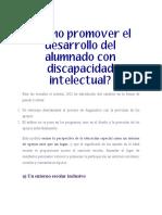 03 ¿Cómo promover el desarrollo del alumnado con discapacidad intelectual?