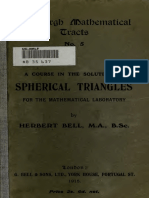Course on Solution Spherical Triangle