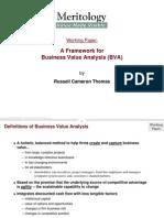Business Value Analysis Framework