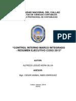 Indice - Cuestionario en Relación Control Interno Marco Integrado - Resumen Ejecutivo Coso 2013