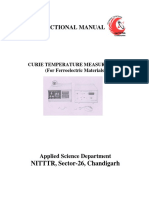 Curie Temp of Ferroelectrics