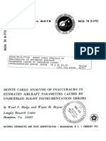 Monte carlo analysis of inaccuracies in estimated aircraft parameters