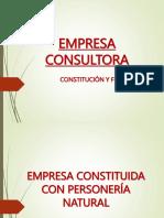 Empresa Consultora-constitución y Fines