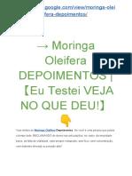 → Moringa Oleifera DACOV Funciona? |【Eu Testei VEJA NO QUE DEU!】?