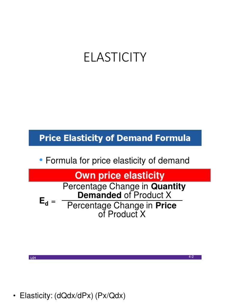 Elasticity Microeconomics Demand Price Elasticity Of Demand
