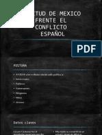 Actitud de Mexico Frente El Conflicto Español