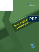 Sociologia Para Formacion de Docentes