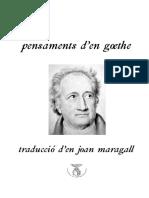 Goethe - Pensaments