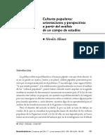 Nicolas Aliano. Culturas Populares