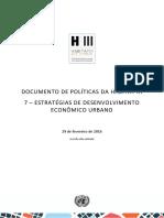 Documento de Políticas Da Habitat III 7 – Estratégias de Desenvolvimento Econômico Urbano