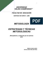Estrategias y Técnicas Metodológicas (Documento Base)