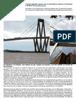 La Falta de Mantenimiento de Un Puente Argentino Igual Al Que Se Derrumbó en Génova