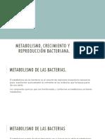 Metabolismo,Crecimiento y Reproducción Bacteriana