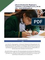 Evaluación Regional El 23 y 24 de Agosto 2018