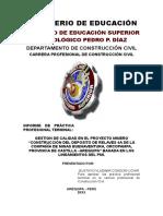Informe de Practicas Preprofesionales - Lab Suelos
