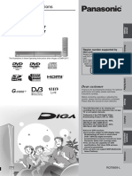 Instrucciones Grabador DVD Panasonic DMR-EX77