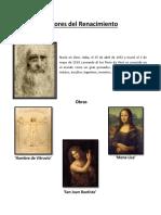 Pintores Del Renacimiento