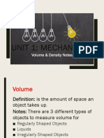 volume   density notes weebly