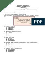 Lecturas Comprensivas y prueba diagnostico lenguaje 2º basico