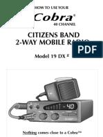 Cobra 19 DX manual