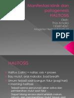 Halitosis Manifestasi Klinik Dan Patogenesis