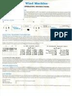 Anatek Wind Machine Manual