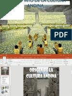 La Cultura Andina; elaborado por lic. Rolando Ramos Nación