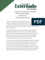 El Plebiscito Por La Paz y La Democracia en Colombia