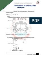 Ejercicios Propuestos de Optimizacion Estatica