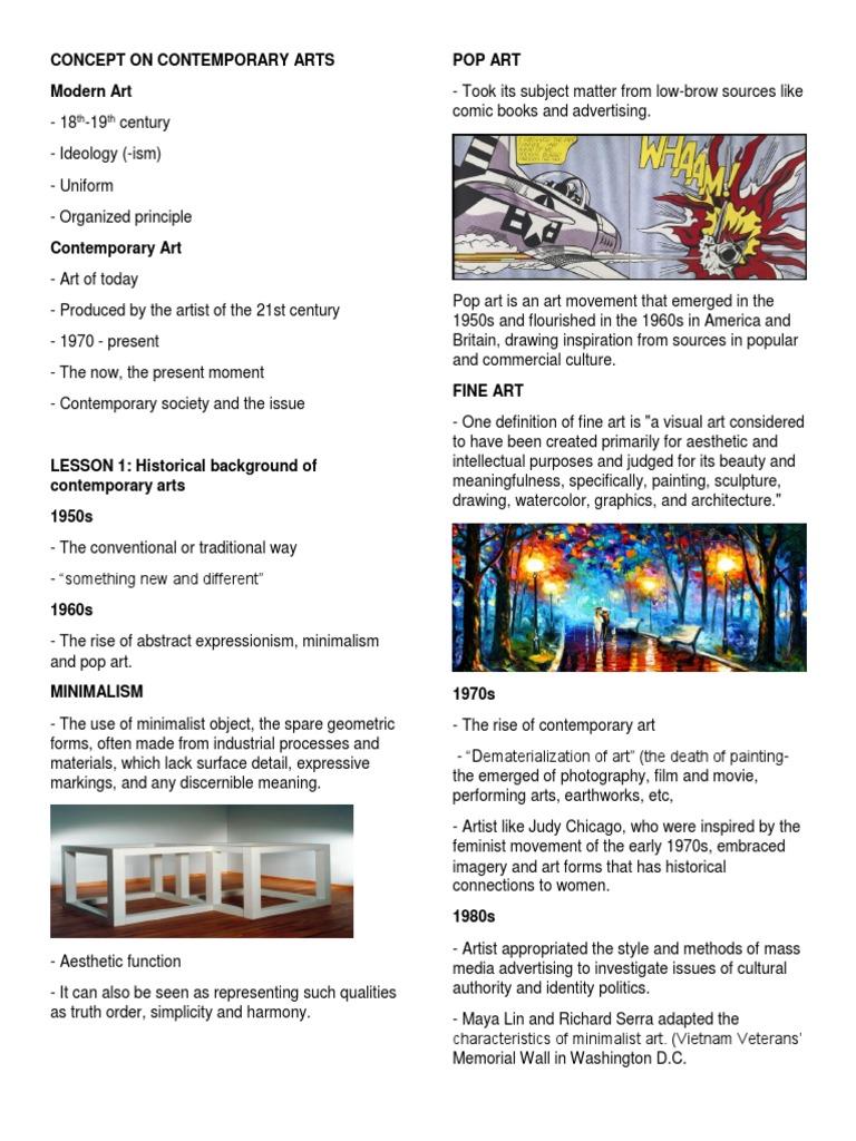 Concept On Contemporary Arts Fine Art Minimalism