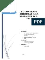Convenio arbitral a la vista del D.L. 1071 - Perú