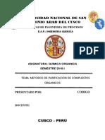 Informe de Organica (OBTENCION DEL EUCALIPTO)