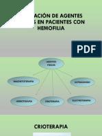 Aplicación de Agentes Fisicos en Pacientes Con Hemofilia