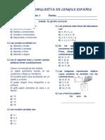 Español prueba