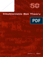 #Intuitionistic Set Theory