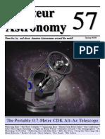 Portable CDK Alt-Az Telescope