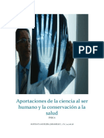 Aportaciones de La Ciencia Al Ser Humano y La Conservación a La Salud