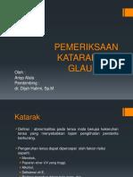 Tehnik Pemeriksaan Katarak Dan Glaukoma