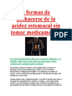4 Formas de Deshacerse de La Acidez Estomacal Sin Tomar Medicamentos