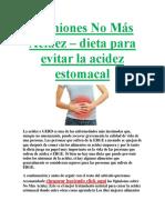 Opiniones No Más Acidez – dieta para evitar la acidez estomacal